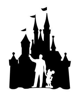 256x300 Custom Vinyl Decal Run Castle Mickey Walt Cinderella Sleeping