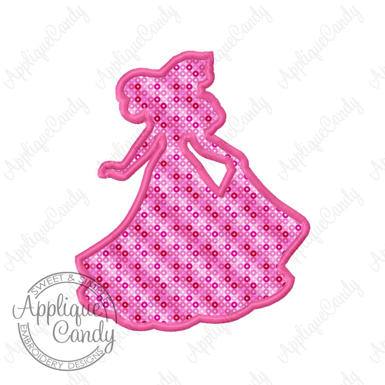 1500x1500 Sleeping Beauty Princess Silhouette Applique