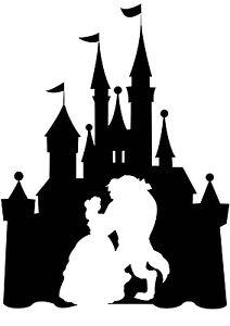 212x300 Custom Vinyl Decal Run Castle Beauty Beast Dance Sleeping Sticker