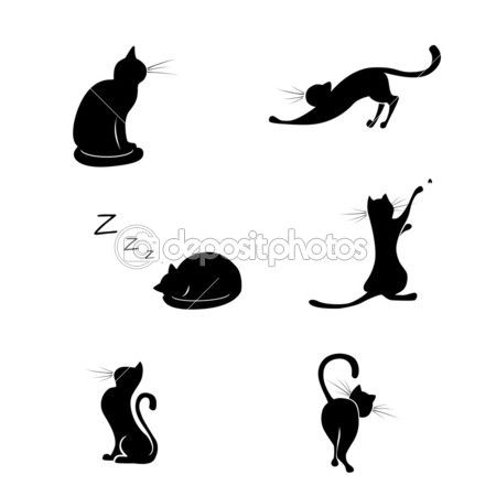 450x450 Cat Model Silhouettes Cat, Models And Silhouettes