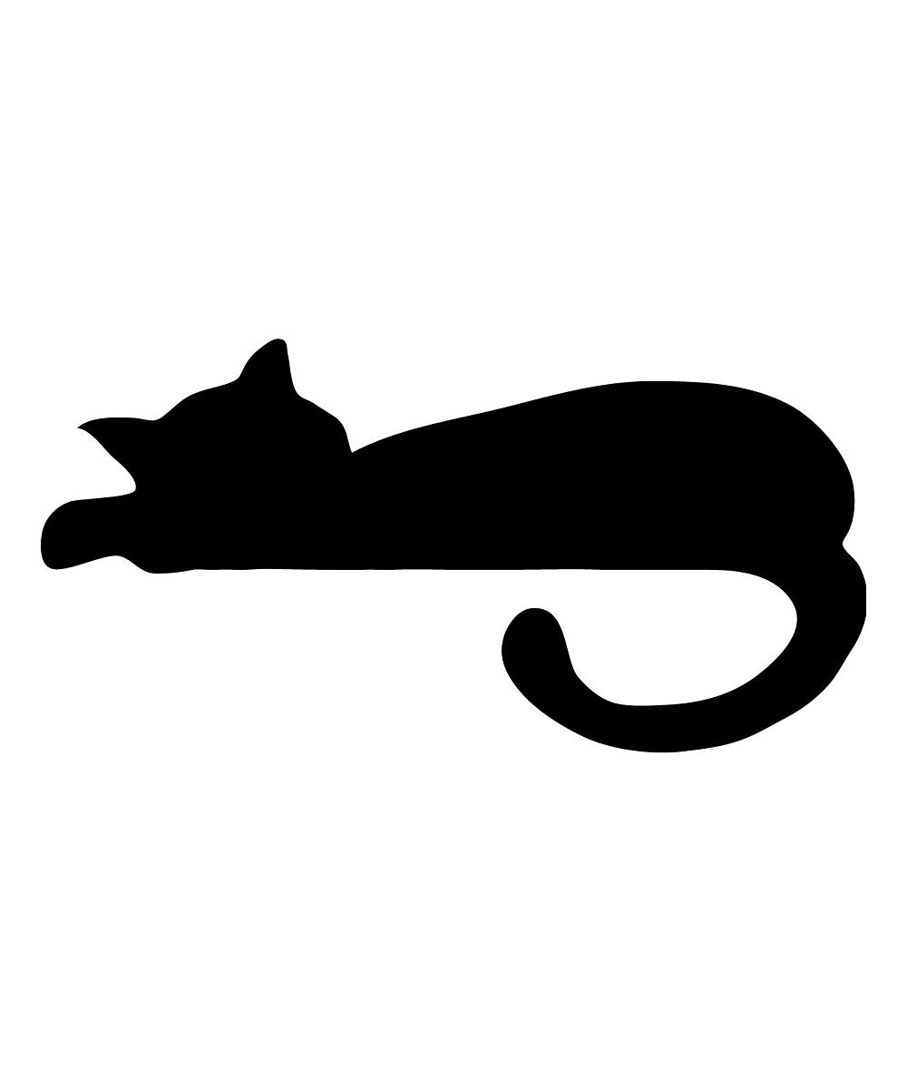 1000x1201 Ambiance Sticker Sleeping Cat Decal Set Zulily