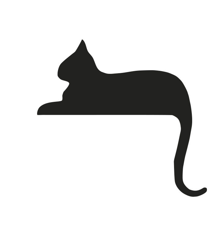 736x750 Cat Laying Down Clipart