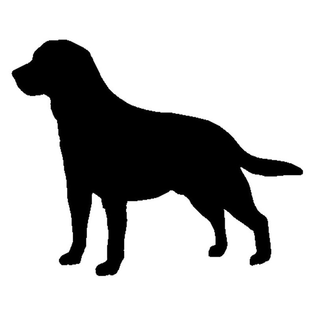 640x640 15.512.7cm Labrador Retriever Dog Heart Vinyl Decal Silhouette