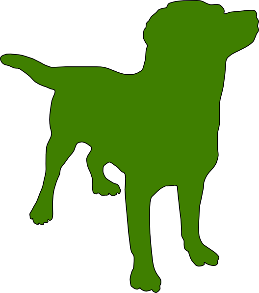 528x596 Green Dog Silhouette Clip Art