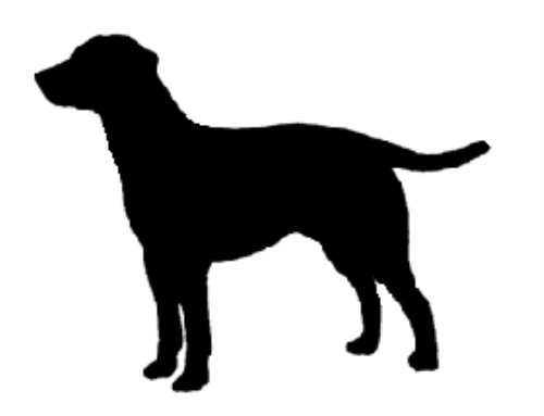 500x383 Lab Silhouette Black Dog Antiques Clipart Library