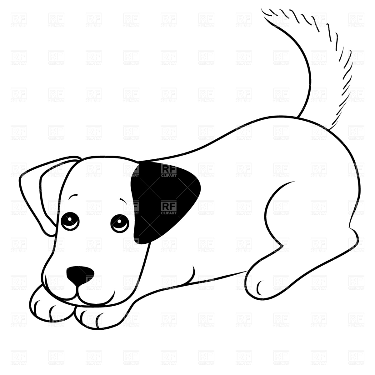 1200x1200 Puppy Clipart Dog Outline 3825059