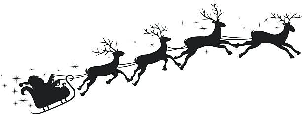 612x231 Raindeer Sleigh Reindeer Sleigh Ride From Reindeer Pulling Sleigh