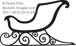 300x184 Christmas Sleigh Royalty Free (Rf) Clip Art Picture Silhouette