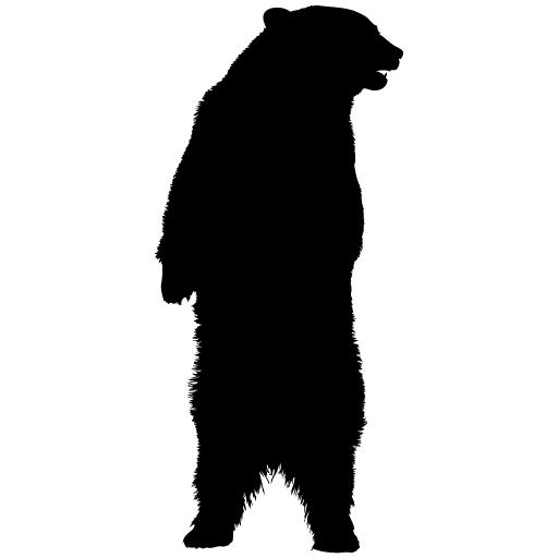 512x512 Standing Bear Silhouette Clipart Panda