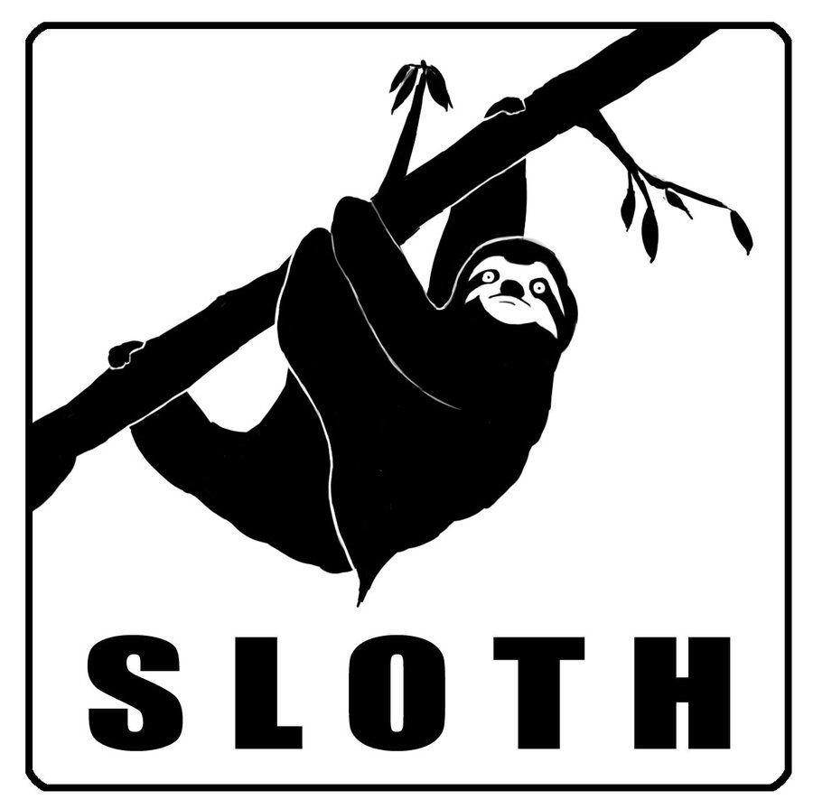 900x896 Sloth Silhouette