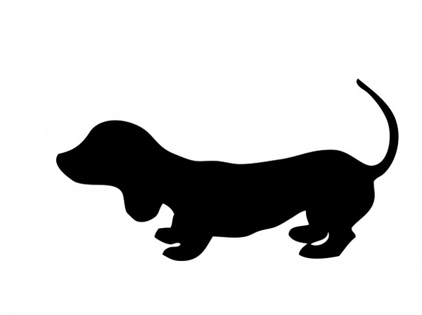 600x449 Dog Silhouette Jdz Free Images