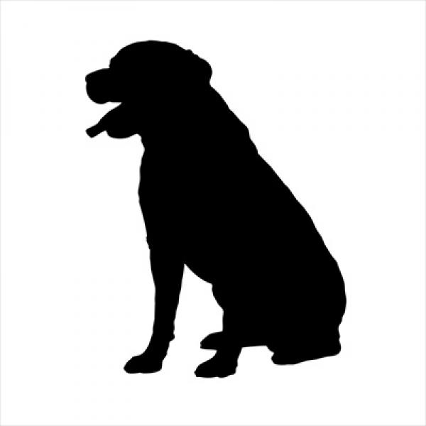 600x600 Rottweiler Small Decal, Dog Park Publishing