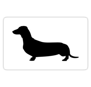 375x360 Weiner Dog Silhouette Stickers By Mattybraps98 Redbubble