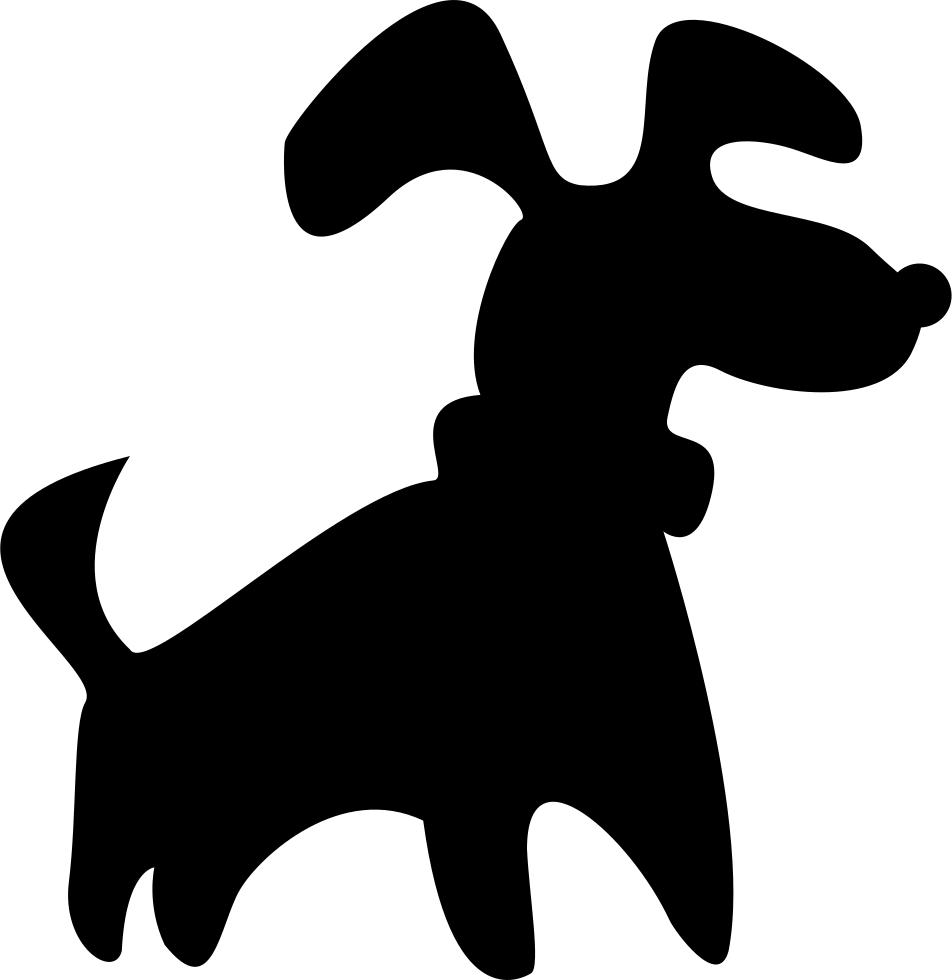 952x980 Black Small Dog Silhouette Svg Png Icon Free Download ( 74180