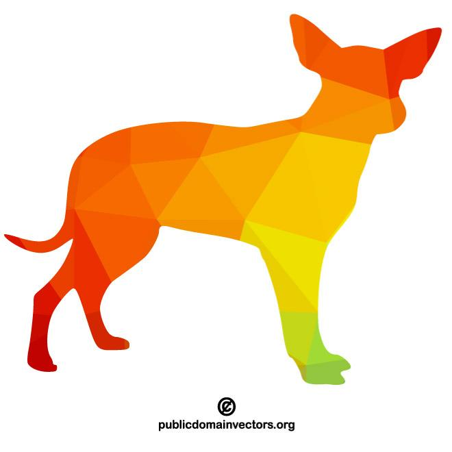 660x660 Color Silhouette Of A Dog