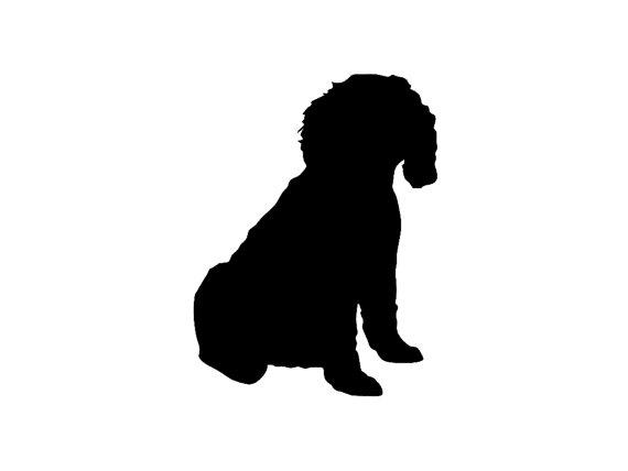 570x428 Cockapoo Sitting Mixed Dog Breed Silhouette Custom Die Cut