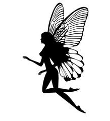 218x240 Silhouette Of A Fairy Isolated On White Background Clay Crafts
