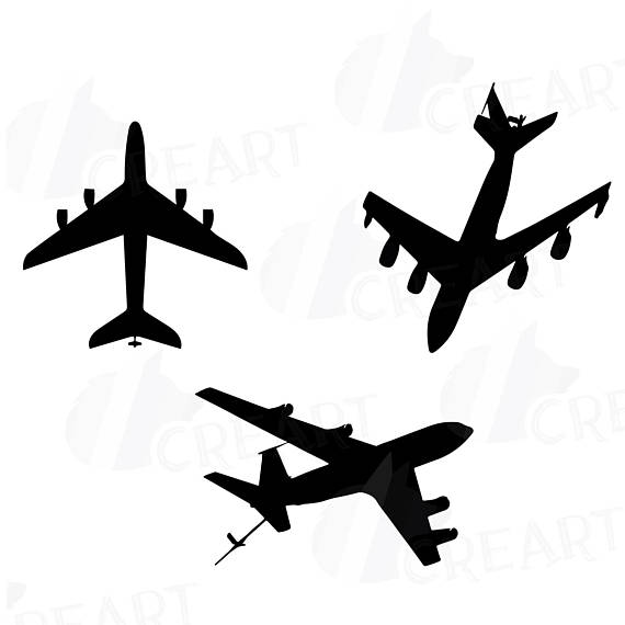 570x570 Airplane Silhouette Pack Airplane Clipart. Eps Png Jpg