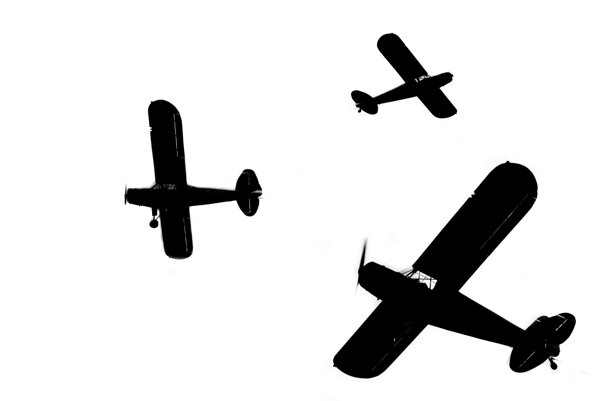 1920x1280 Silhouette Of A Light Airplane Free Stock Photo