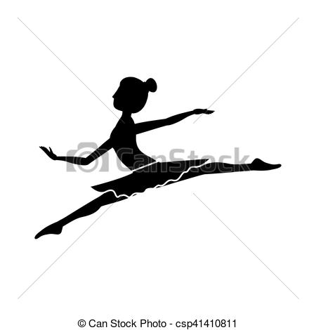 450x470 Silhouette With Dancer Position Small Spears Vector Vector Clip