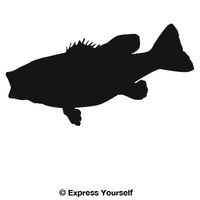 400x400 Small Mouth Bass Decal