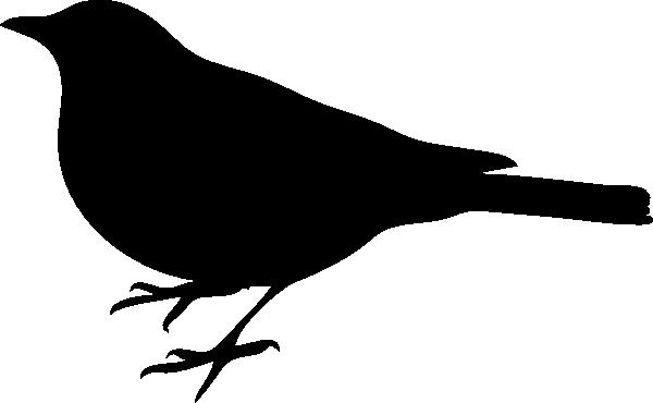 600x370 Bird Silhouette Small Black 2 Clip Art
