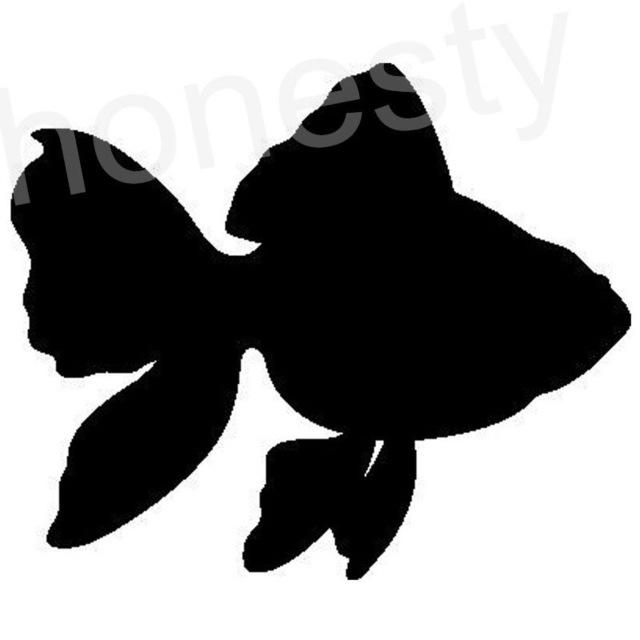 640x640 Goldfish Fish Small Carp Silhouette Car Sticker Laptop Truck Home