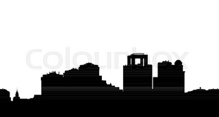320x171 Sketch Of Traffic Road In City For Your Design Stock Vector