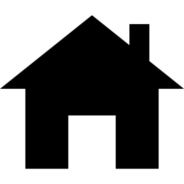 626x626 Small House With Chimney Silhouette Icons Free Download