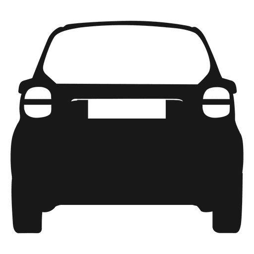 512x512 Smart Car Rear View Silhouette