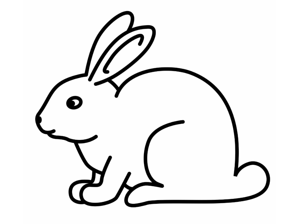1024x768 Absolutely Smart Clipart Rabbit Dog Coloring Pages Easy Drawing