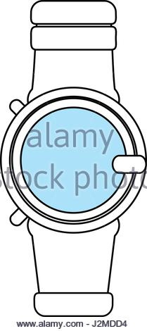 209x470 Silhouette Smart Watch Wearable Connection Internet Stock Vector
