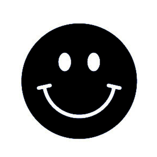 500x500 Happy Face Die Cut Vinyl Decal Pv430 Cricut, Silhouette