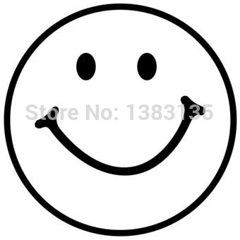 340x340 Smiley Face Silhouette Vinyl Sticker Decal For Wall, Cheeky