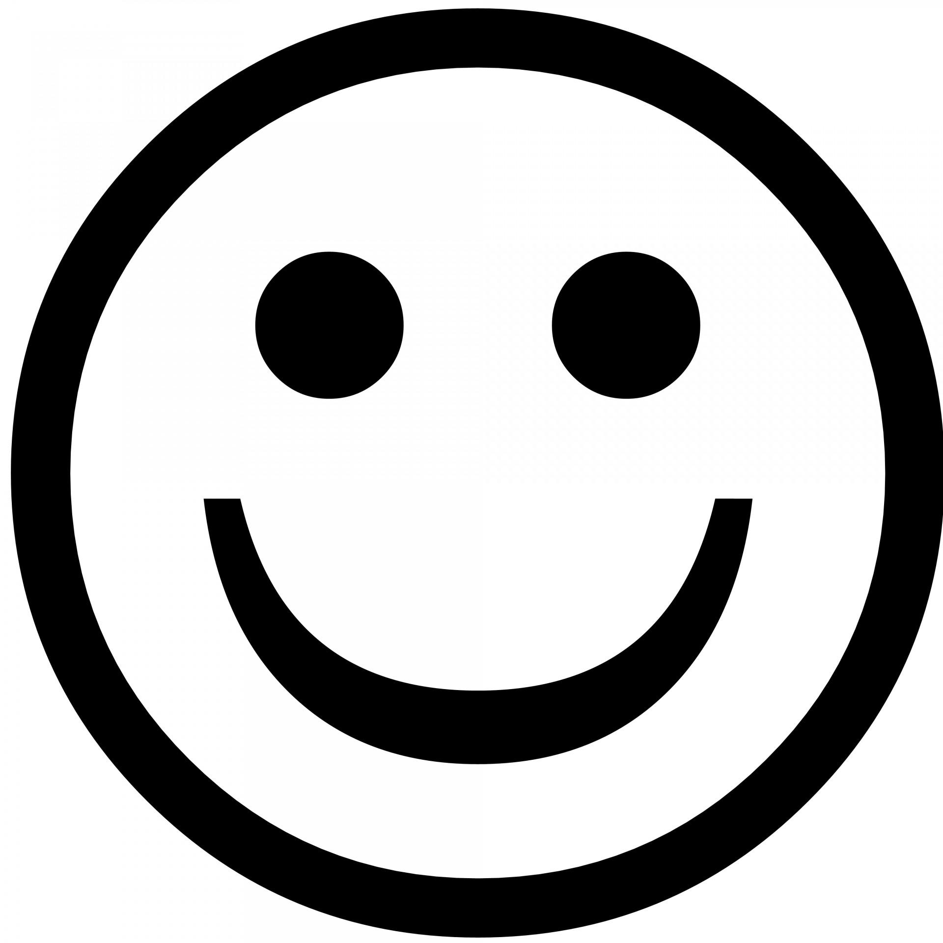 1920x1920 Smiley Silhouette Free Stock Photo