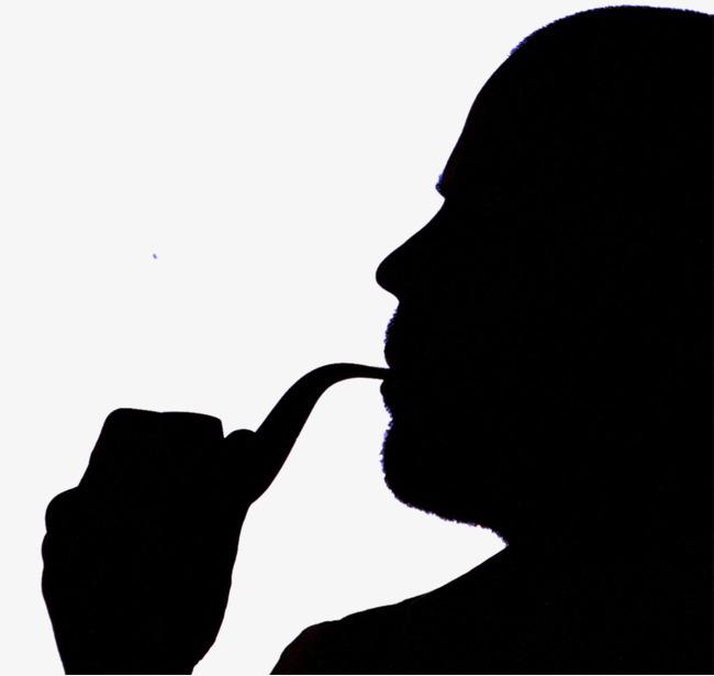 650x615 Smoke Characters Silhouette, Cartoon, Hand Painted, Smoking Png