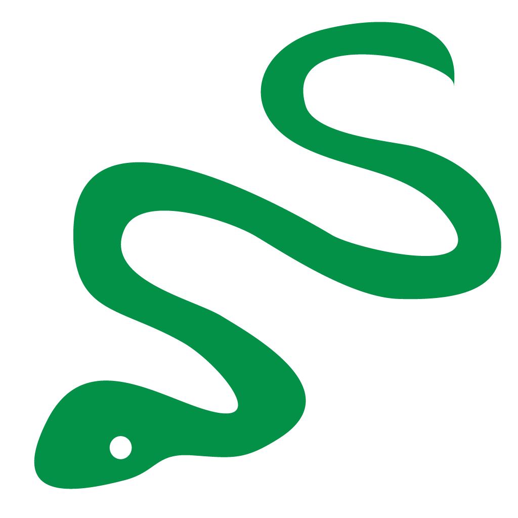 1024x1024 Snake Silhouette Decal Vinyl Sticker Sticker