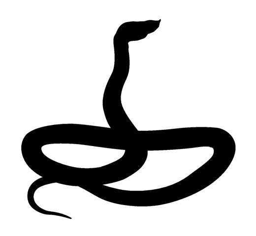 520x480 Snake Silhouette