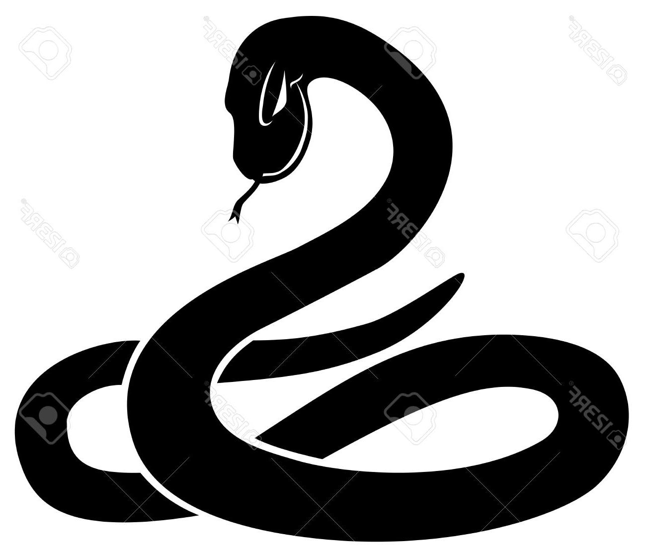 Snake Silhouette Vector At Getdrawings Com Free For
