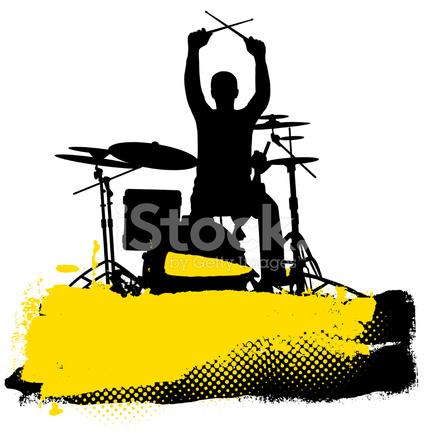 424x439 Drummer Stock Vector
