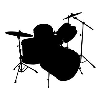 341x340 Free Silhouette Vector Icon, Concert, Cymbal
