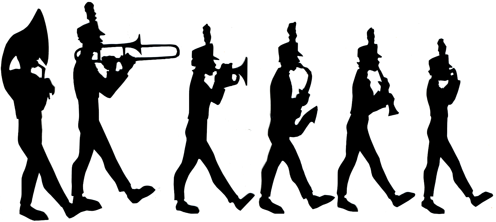 1726x774 Marching Band Clipart Silhouette