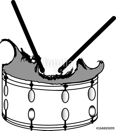 444x500 Broken Snare Drum Vector Stock Image And Royalty Free Vector