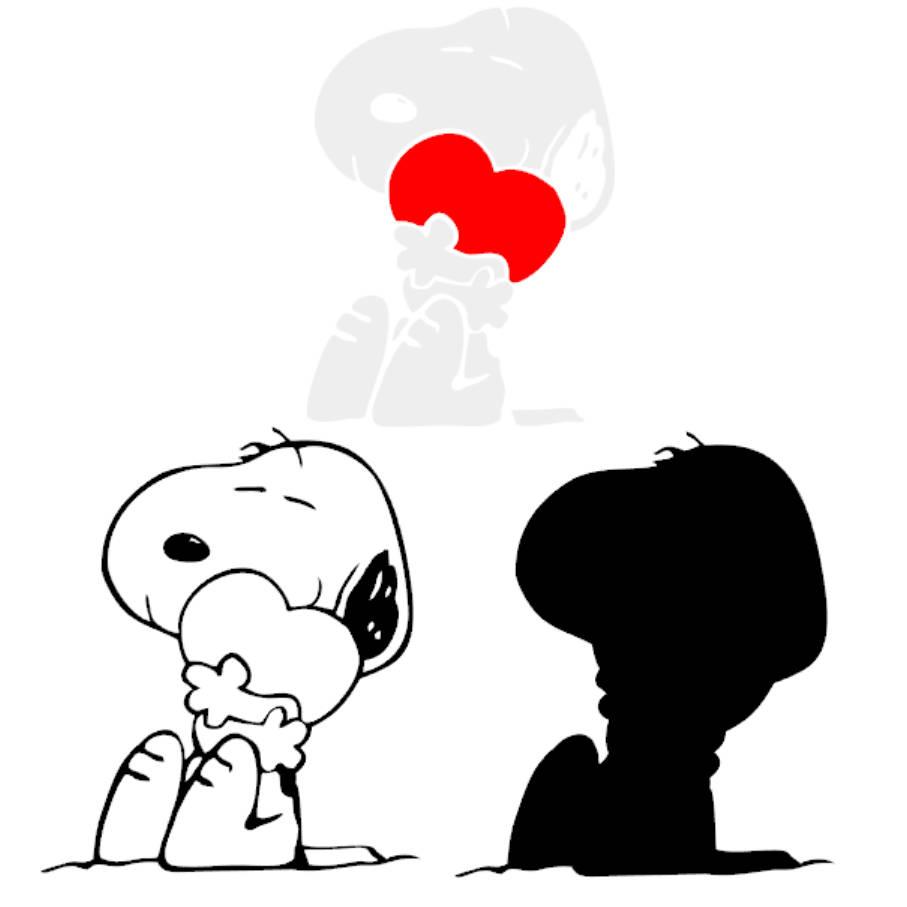 907x907 Snoopy Dog Heart Svg Dxf Eps Vector Cuttable File Cricut