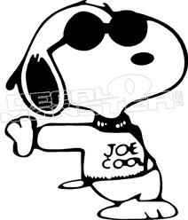 212x248 Snoopy Joe Cool Silhouette 5 Decal Sticker