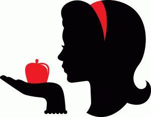 300x233 Snow White Silhouette Clipart