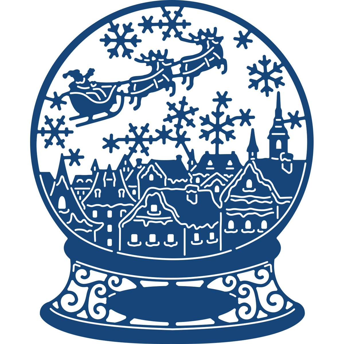1200x1200 Tattered Lace Christmas Eve Snow Globe Die 8.8 X 10.7 Cm