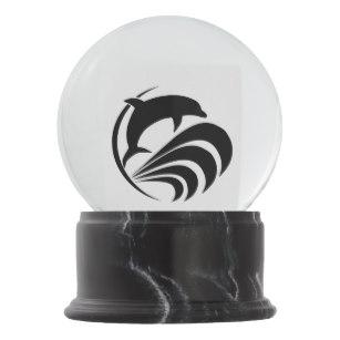 307x307 Black Silhouette Snow Globes Zazzle