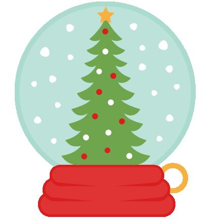 432x432 Christmas Tree Snow Globe Svg Scrapbook Cut File Cute Clipart