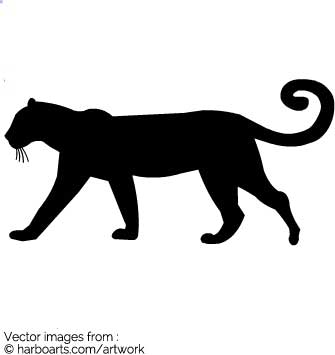 335x355 Leopard Silhouette Clip Art